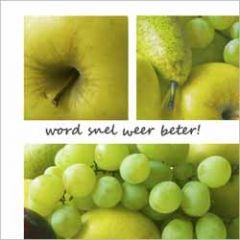 beterschapskaart - word snel weer beter!- fruit