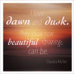 wenskaart claudia muller - dawn and dusk