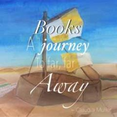 wenskaart claudia muller - books a journey