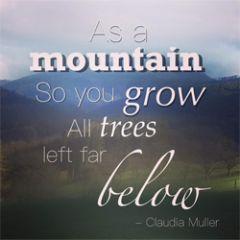wenskaart claudia muller - as a mountain