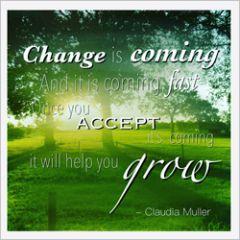 wenskaart claudia muller - change is coming