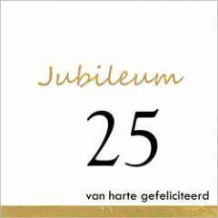 25 jaar - jubileum wenskaart - van harte gefeliciteerd