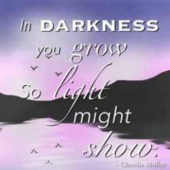 wenskaart claudia muller - so light might show
