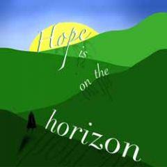 wenskaart claudia muller - hope is on the horizon