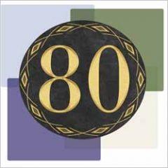 80 jaar - wenskaart muller wenskaarten - vlakken