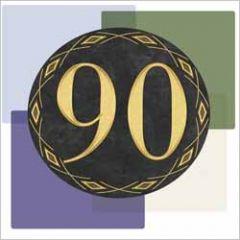 90 jaar - wenskaart muller wenskaarten - vlakken