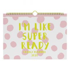 familieplanner 2020 - i m like super ready - roze