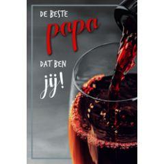 vaderdagkaart - de beste papa dat ben jij - wijnglas