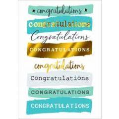 felicitatiekaart yours truly - congratulations