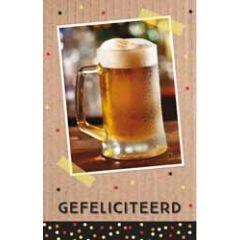 felicitatiekaart - gefeliciteerd - bier