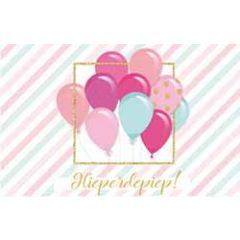 felicitatiekaart - hieperdepiep - ballonnen