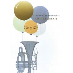 verjaardagskaart louise tiler - sound the trumpet let s celebrate
