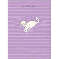 santoro eclectic cards - felines - if i fits i sits