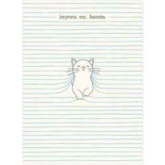 santoro eclectic cards - felines - impress me human