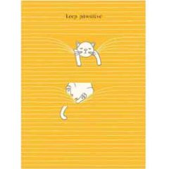 santoro eclectic cards - felines - keep pawsitive