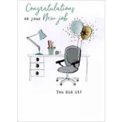 wenskaart nieuwe baan - congratulations on your new job you did it!