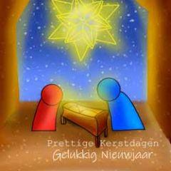 grote vierkante christelijke kerstkaart - prettige kerstdagen gelukkig nieuwjaar
