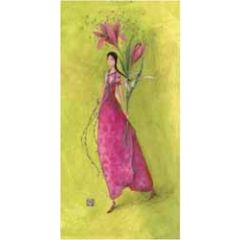 ansichtkaart met envelop - gaelle boissonnard - bloemen
