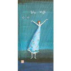 ansichtkaart met envelop - gaelle boissonnard - vogels in de regen