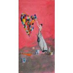 wenskaart  gaelle boissonnard - hart schilderen