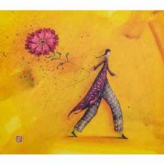 wenskaart - gaelle boissonnard - bloem aan touw