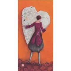 ansichtkaart met envelop - gaelle boissonnard - hart