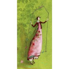 ansichtkaart met envelop - gaelle boissonnard - groen