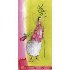 ansichtkaart met envelop - gaelle boissonnard - groen roze