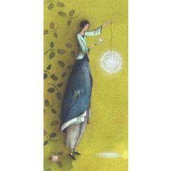 ansichtkaart met envelop - gaelle boissonnard - lamp