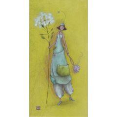 ansichtkaart met envelop - gaelle boissonnard - bloem