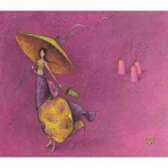 ansichtkaart met envelop - gaelle boissonnard - parasol