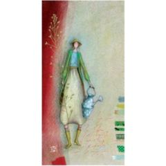 wenskaart - gaelle boissonnard - vrouw met gieter