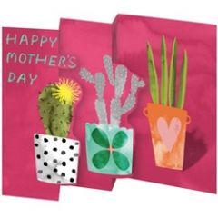 lasergesneden en in 3-en gevouwen moederdagkaart roger la borde - happy mothers day - planten