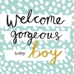 geboortekaartje caroline gardner - hey you - welcome gorgeous baby boy