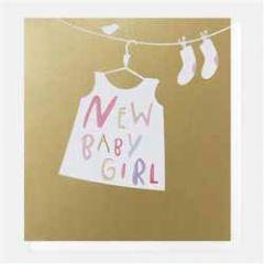 geboortekaartje caroline gardner super duper - new baby girl