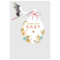 geboortekaartje louise tiler - a new little baby - ooievaar