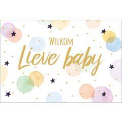 geboortekaartje golden touch - welkom lieve baby