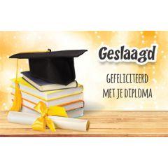felicitatiekaart - geslaagd gefeliciteerd met je diploma