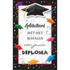 wenskaart geslaagd - gefeliciteerd met het behalen van jouw diploma