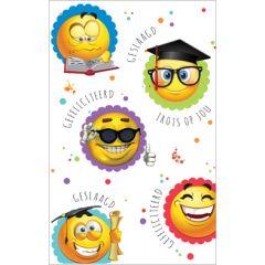 felicitatiekaart - geslaagd gefeliciteerd - emoji