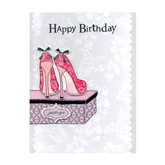 grote verjaardagskaart A4 - happy birthday just for you - schoenen