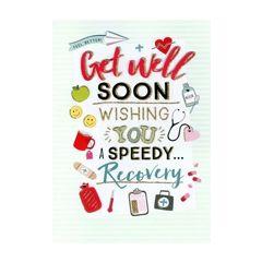 grote beterschapskaart A4 - get well soon speedy recovery