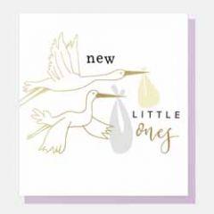 geboortekaartje tweeling caroline gardner - new little ones - ooievaar