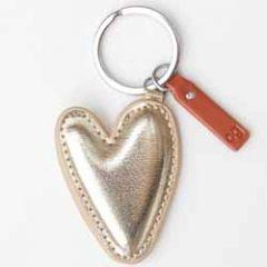 sleutelhanger - tashanger - hart goud