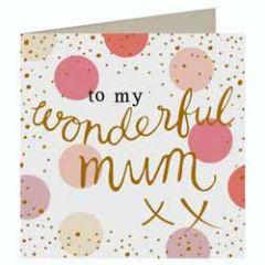 grote moederdag wenskaart caroline gardner- to my wonderful mum