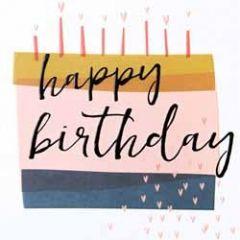 verjaardagskaart caroline gardner - screenprint - happy birthday - taart