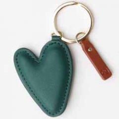 sleutelhanger - tashanger - hart groen