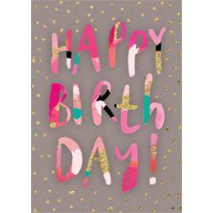 grote verjaardagskaart A4 - gelukkige verjaardag - taart