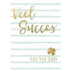 grote kaart A4 - veel succes yes you can! - klavertje 4