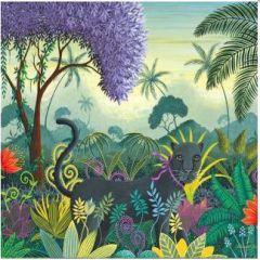 vierkante ansichtkaart gwenaëlle trolez - jungle